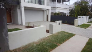 Rendered Wall & Fence