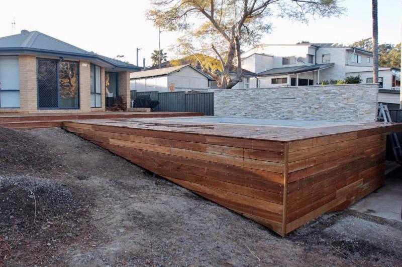 Freshly installed Pool Deck