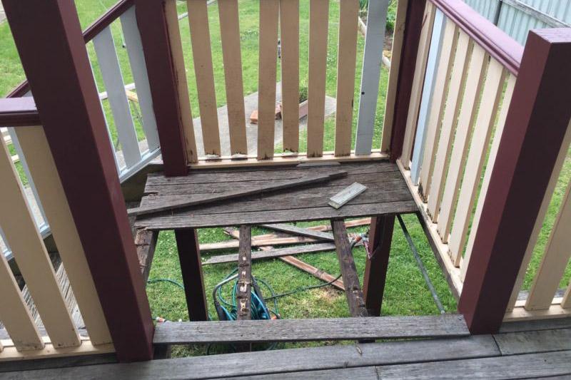Stairwell in need of repair